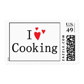I Love Cooking Postage Stamps