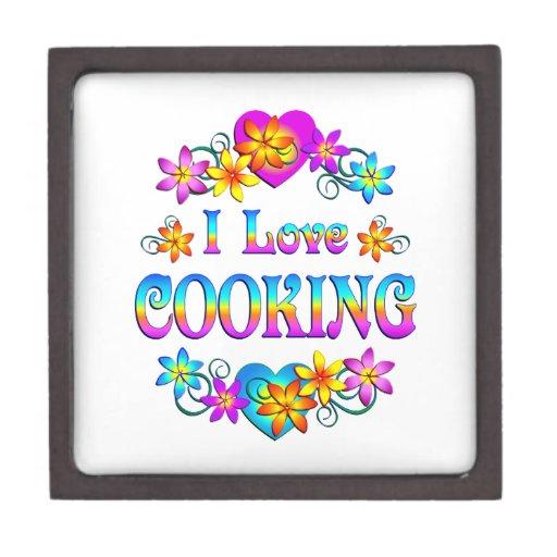 I Love Cooking Premium Keepsake Box