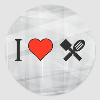 I Love Cooking Shows Classic Round Sticker