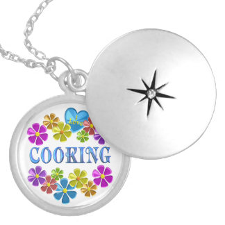 I Love Cooking Silver Plated Necklace