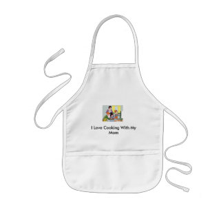 I Love Cooking With My Mom Kids' Apron