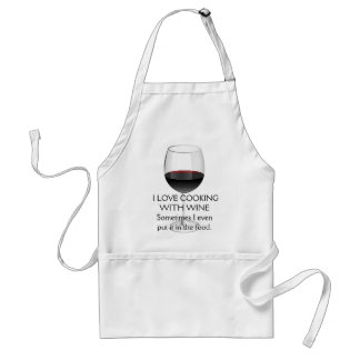 I LOVE COOKING WITH WINE ADULT APRON