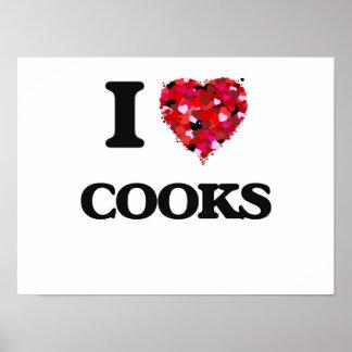 I love Cooks Poster