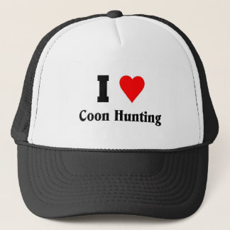 I love Coon Hunting Trucker Hat