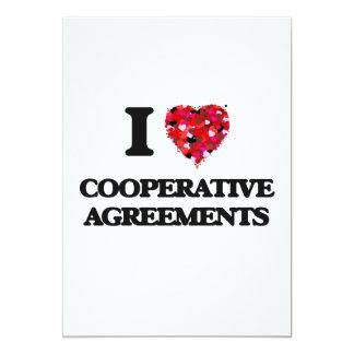 I love Cooperative Agreements 5x7 Paper Invitation Card