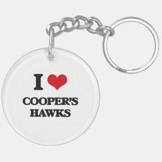 I love Cooper's Hawks Double-Sided Round Acrylic Keychain