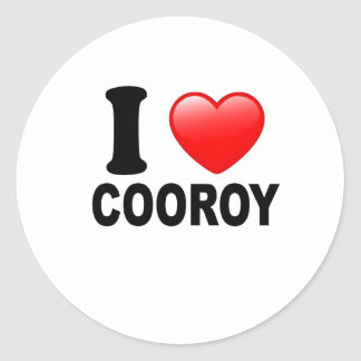 I Love Cooroy Classic Round Sticker