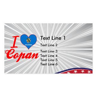 I Love Copan, Oklahoma Business Card Templates