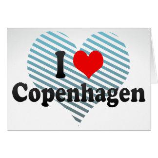I Love Copenhagen, Denmark Cards
