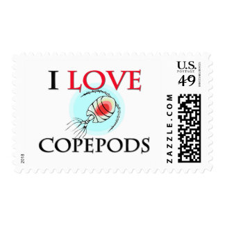 I Love Copepods Stamps