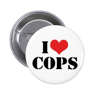 I Love Cops Button