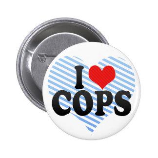 I Love COPS Pinback Buttons