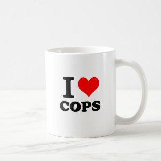 I Love Cops Coffee Mug