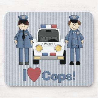 I Love Cops Mouse Pad
