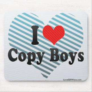 I Love Copy Boys Mouse Pad