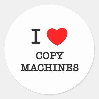 I Love Copy Machines Classic Round Sticker