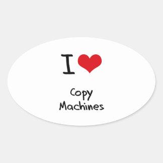 I love Copy Machines Oval Sticker