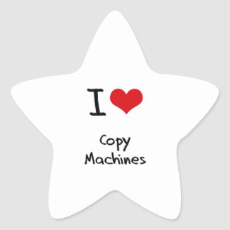 I love Copy Machines Star Sticker