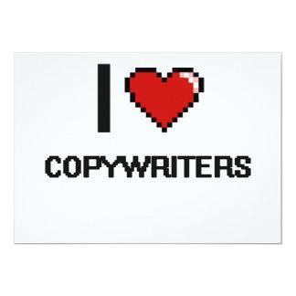"I love Copywriters 5"" X 7"" Invitation Card"