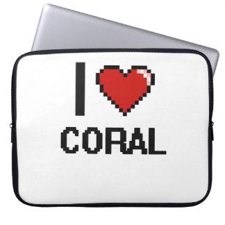 I love Coral Digital Design Laptop Sleeve