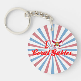 I Love Coral Gables, Florida Key Chain