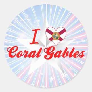 I Love Coral Gables, Florida Sticker