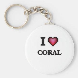 I love Coral Keychain