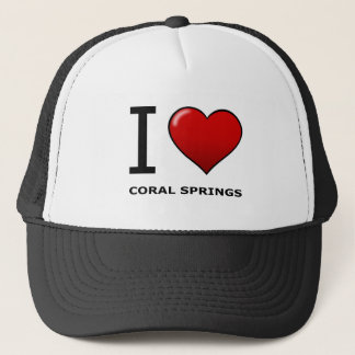 I LOVE CORAL SPRINGS,FL - FLORIDA TRUCKER HAT
