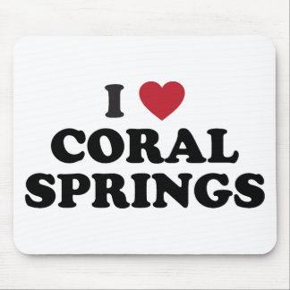 I Love Coral Springs Florida Mouse Pad