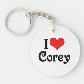 I Love Corey Keychain