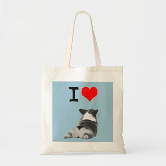 I love Corgi Butt Tote Bag