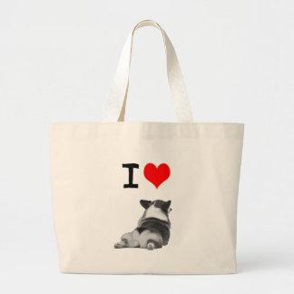 I love Corgi Butts Jumbo Tote Bag
