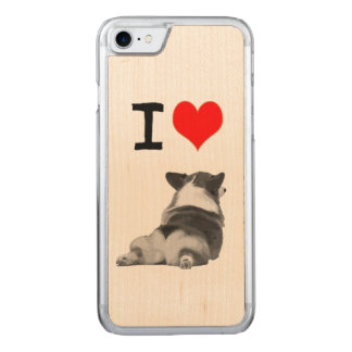 I love Corgi Butts Carved iPhone 7 Case