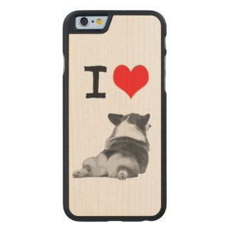 I love Corgi Butts Carved Maple iPhone 6 Slim Case