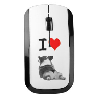 I Love Corgi Butts Wireless Mouse