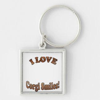 I Love Corgi Smiles Template for Key Chains