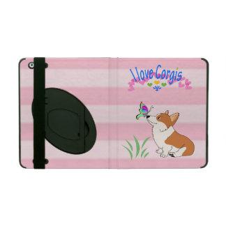 I Love Corgis iPad Folio Case