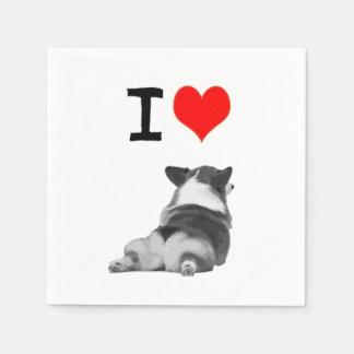 I love Corgis Napkins