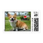 I Love Corgis! Postage Stamps