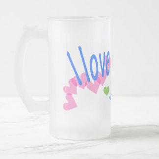 I love Corgis with Hearts Beer Mugs