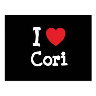 I love Cori heart T-Shirt Postcard