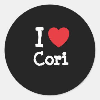 I love Cori heart T-Shirt Round Sticker