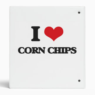I Love Corn Chips 3 Ring Binders