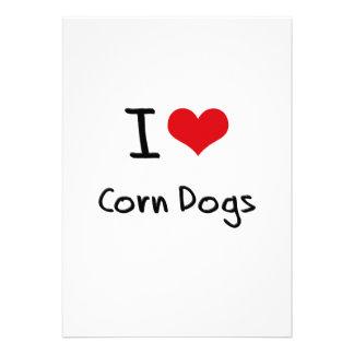 I love Corn Dogs Personalized Invites