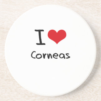 I love Corneas Drink Coasters