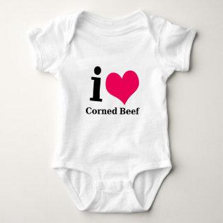 I love Corned Beef Baby Bodysuit