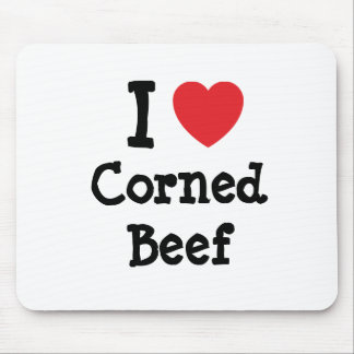 I love Corned Beef heart T-Shirt Mouse Pads