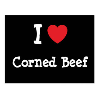 I love Corned Beef heart T-Shirt Post Cards
