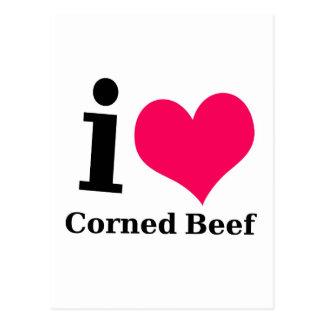 I love Corned Beef Postcard