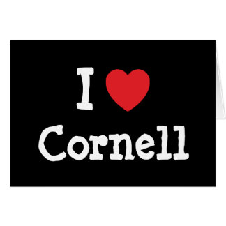 I love Cornell heart custom personalized Card